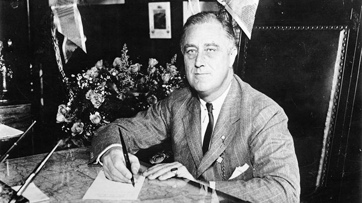 Ảnh chụp Tổng thống Mỹ Franklin D. Roosevelt năm 1932. Ảnh: GETTY IMAGES