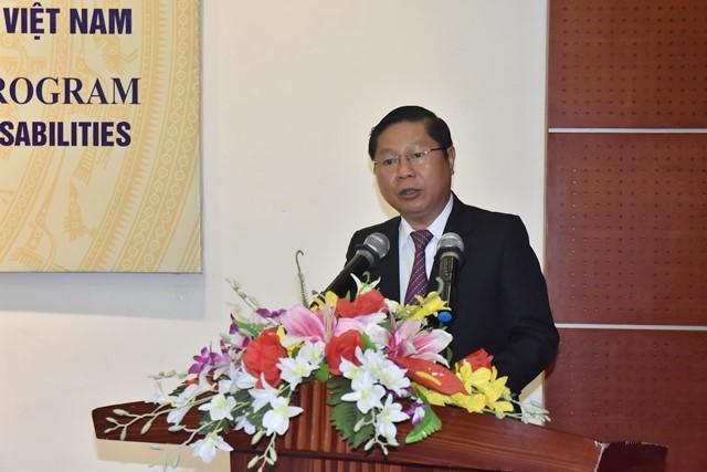 Thứ trưởng Bộ LĐTBXH Lê Tấn Dũng phát biểu tại hội thảo