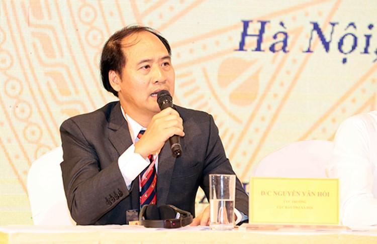 Ông Nguyễn Văn Hồi – Cục trưởng Cục Bảo trợ xã hội phát biểu