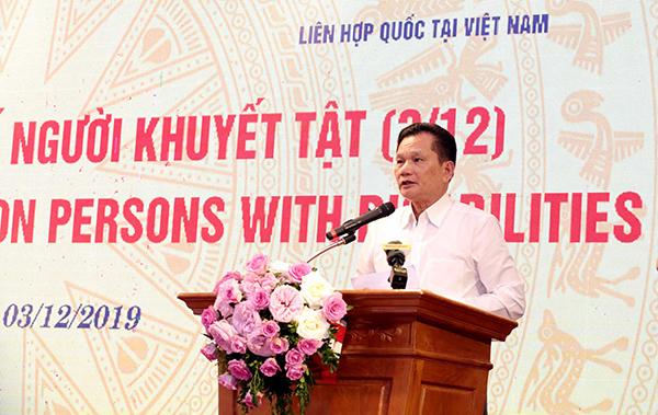 Ông Bùi Sỹ Lợi, Phó Chủ nhiệm Ủy ban về các vấn đề xã hội của Quốc hội chia sẻ một số nội dung chính từ phiên đối thoại với các bộ, ngành về tình tình thực hiện chính sách pháp luật đối với NKT.