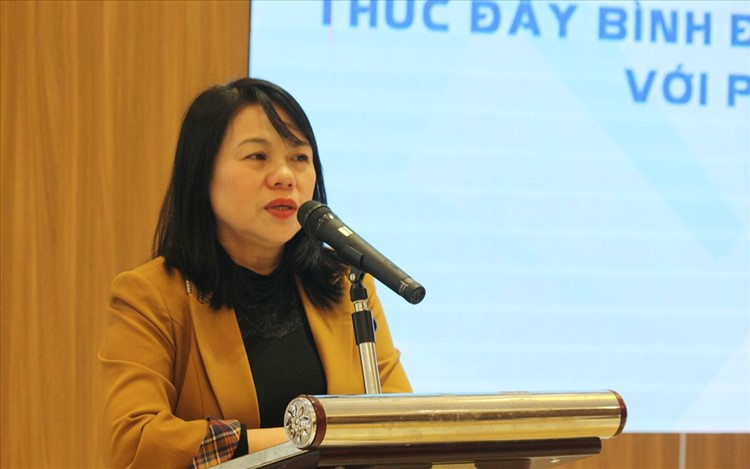 Bà Đinh Thị Thụy - Phó Chánh văn phòng Ủy ban Quốc gia về người khuyết tật Việt Nam. Ảnh: Phạm Đông