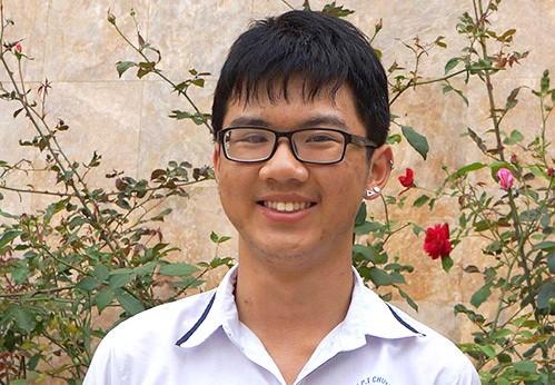Lê Bá Ninh vừa xuất sắc giành học bổng du học Mỹ. Ảnh: Lam Sơn.