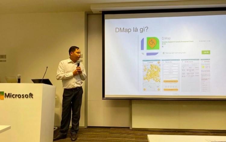 Đại diện trung tâm DRD trình bày sáng kiến nâng cấp D.Map.