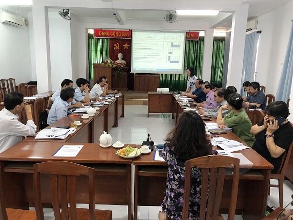 Báo cáo viên Dự án triển khai Kế hoach hoạt động của Dự án 2020-2021 (Ảnh. Nhất Tâm)