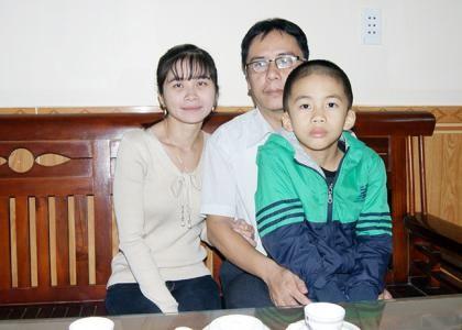 Gia đình anh Nguyễn Thái Hùng.